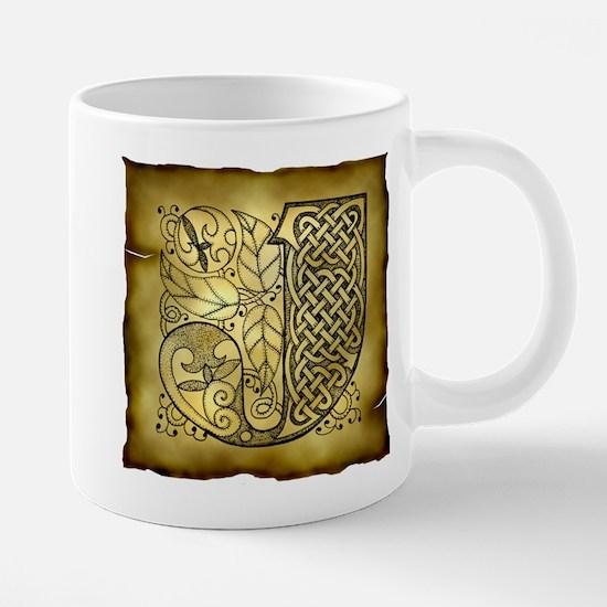 Celtic Letter J 20 oz Ceramic Mega Mug