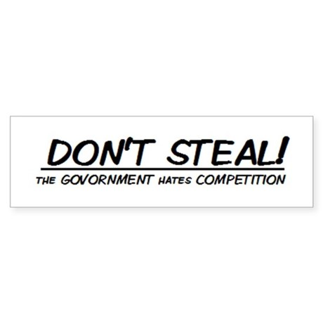 Government Sticker (Bumper)