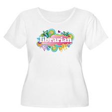 Retro Burst Librarian T-Shirt