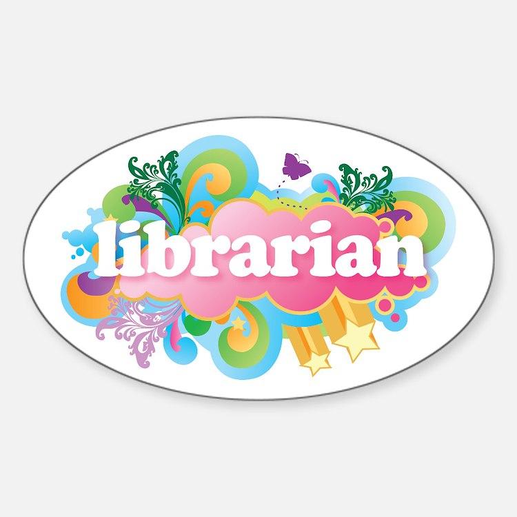 Retro Burst Librarian Decal