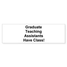 Teaching Assistant Bumper Bumper Stickers