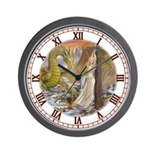 Dragon and Captive Wall Clock