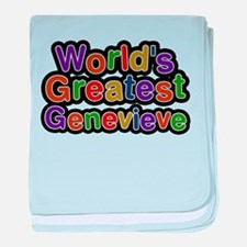 Worlds Greatest Genevieve baby blanket