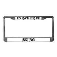 Rather be Skiing License Plate Frame
