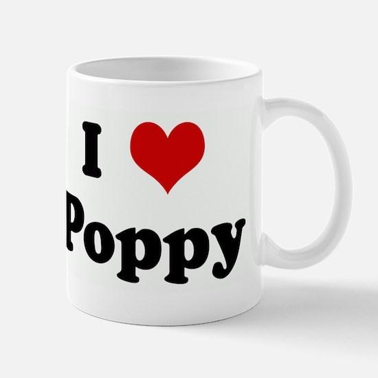 I Love Poppy Mugs