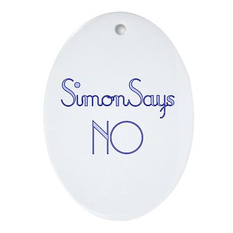 simon says no oval ornament by charsart. Black Bedroom Furniture Sets. Home Design Ideas