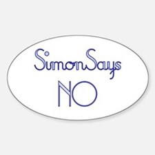 Simon Says NO Oval Decal
