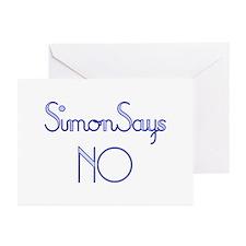 Simon Says NO Greeting Cards (Pk of 10)