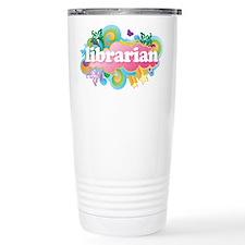 Retro Burst Librarian Ceramic Travel Mug