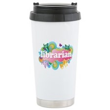 Retro Burst Librarian Travel Mug