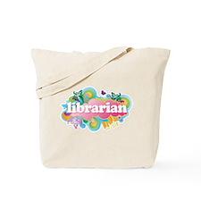 Retro Burst Librarian Tote Bag