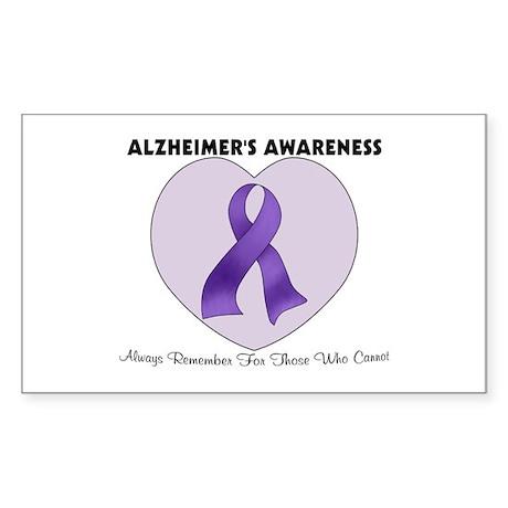 Alzheimer's Awareness Sticker (Rectangle)