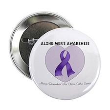 """Alzheimer's Awareness 2.25"""" Button (10 pack)"""