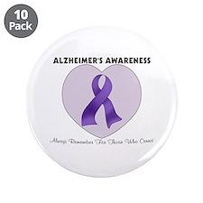 """Alzheimer's Awareness 3.5"""" Button (10 pack)"""