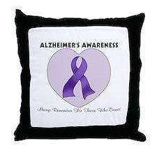 Alzheimer's Awareness Throw Pillow