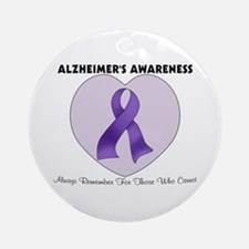 Alzheimer's Awareness Ornament (Round)