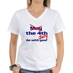 Get 'the Force' Women's V-Neck T-Shirt