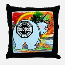 Lost Polar Bear Oops Throw Pillow