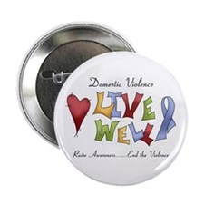 "Domestic Violence (lw) 2.25"" Button (10 pack)"