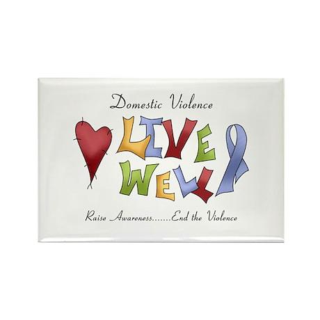 Domestic Violence (lw) Rectangle Magnet (100 pack)