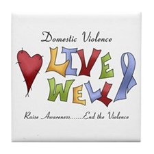 Domestic Violence (lw) Tile Coaster