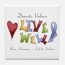 Domestic Violence (lw) Tile Coaster