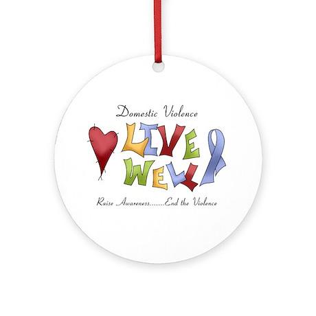 Domestic Violence (lw) Ornament (Round)