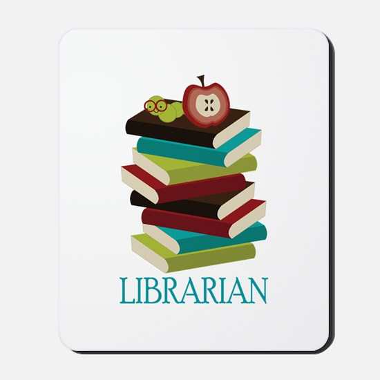 Book Stack Librarian Mousepad
