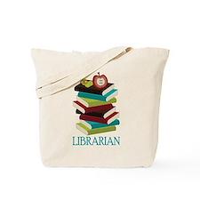 Book Stack Librarian Tote Bag