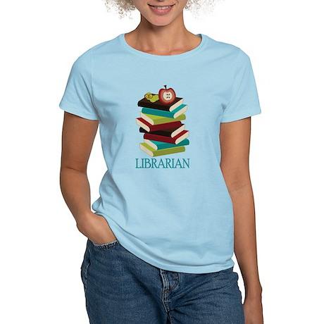 Book Stack Librarian Women's Light T-Shirt