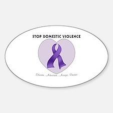 Stop Domestic Violence Sticker (Oval)