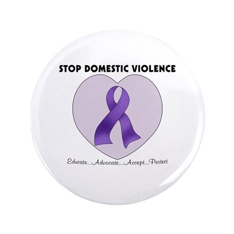 "Stop Domestic Violence 3.5"" Button"