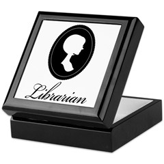 Silhouette Librarian Keepsake Box