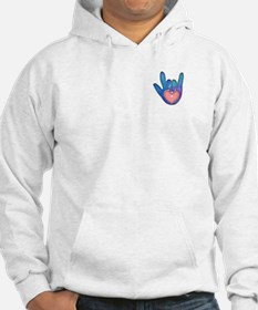 Blue/Pink Glass ILY Hand Hoodie
