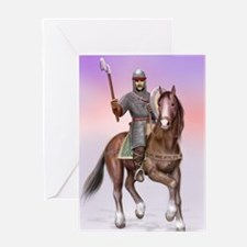 Funny Knight rider Greeting Card