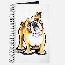 Fawn White Bulldog Journal