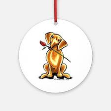 Red Dachshund Lover Ornament (Round)