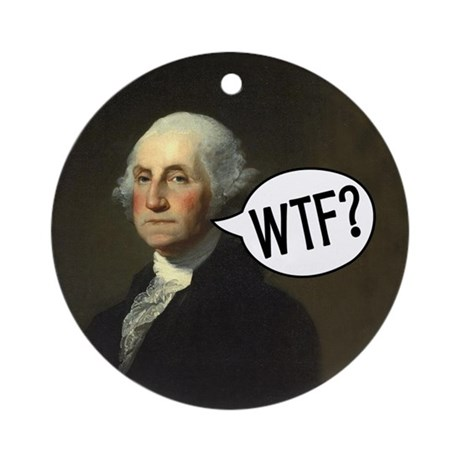 Washington WTF Ornament (Round)