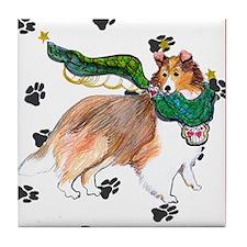Gulliver's Angels Sheltie Tile Coaster