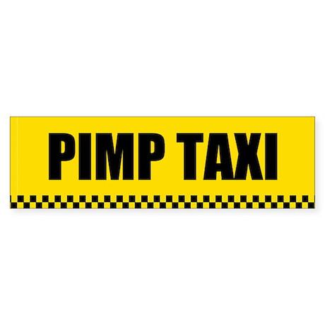 Pimp Taxi Bumper Sticker