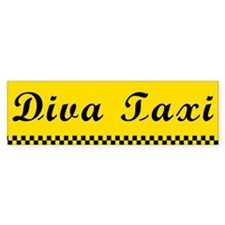 Diva Taxi Bumper Bumper Sticker