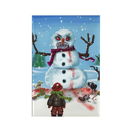 Little Timothys LAST Snowman Rectangle Magnet