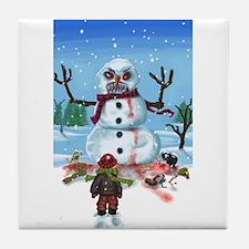 Little Timothys LAST Snowman Tile Coaster