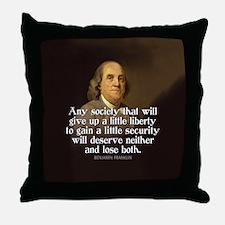 Ben Franklin Quotes Throw Pillow