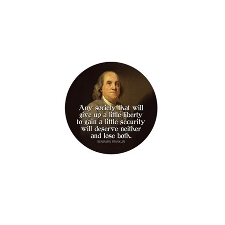 Ben Franklin Quotes Mini Button (10 pack)