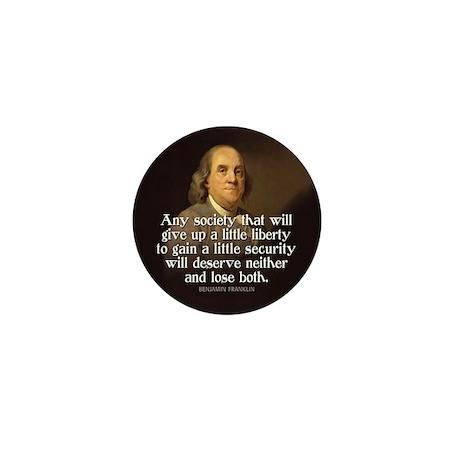 Ben Franklin Quotes Mini Button