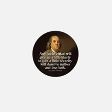 Ben Franklin Quotes Mini Button