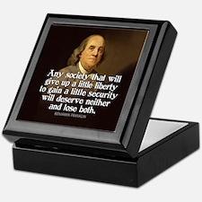 Ben Franklin Quotes Keepsake Box