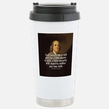 Ben Franklin Quotes Travel Mug