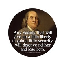 "Ben Franklin Quotes 3.5"" Button"